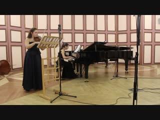 В.А. Моцарт. Соната для скрипки и ф-но ми минор, К. 304, 1 ч.