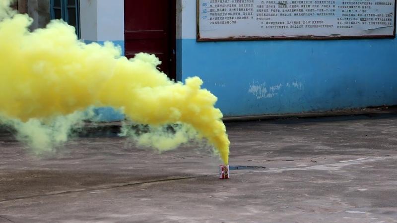 Дымовой фонтан желтый MA0509 Y Maxsem
