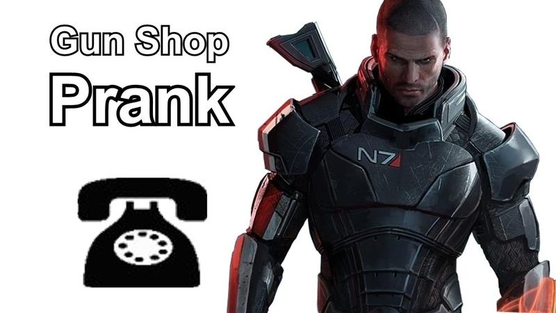 Commander Shepard Calls Gun Shops - Mass Effect Prank