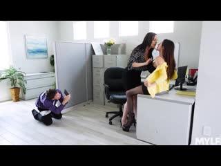 Ariella ferrera, dana dearmond - office creampies [порно мамки, зрелые, wife, mom, big tits sex, blowjob, treesome, milf]