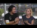 VIDEO Bob and Eliza interview with @etnow at SDCC2018 The100 Bellarke - - Full video here