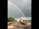 Двойная радуга украсила небо над Биробиджаном после непродолжительного дождя