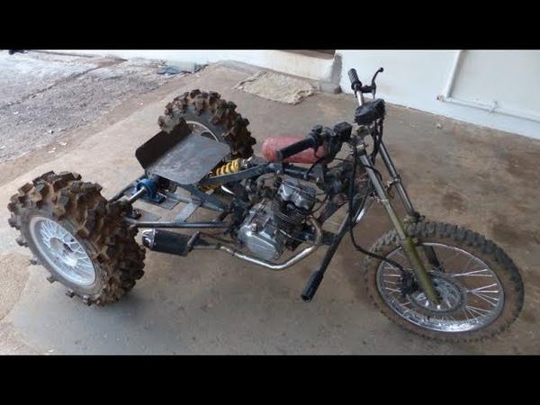 Triciclo Cross Motor de moto 125cc Construção 04 finalização Paulo Mootores