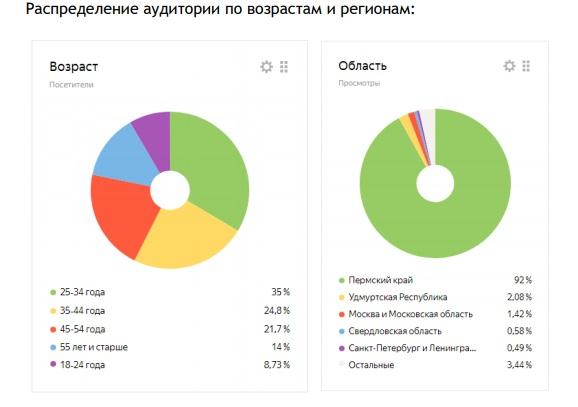 распределение аудитории чайковские.рф, 2018 год