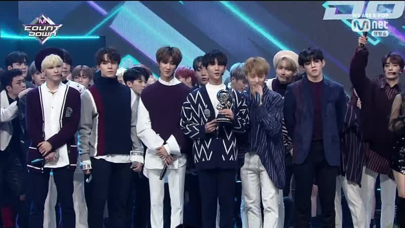 190214 Seventeen 세븐틴 Todays LINE UP Home 9th Win Encore @ Mnet M Countdown
