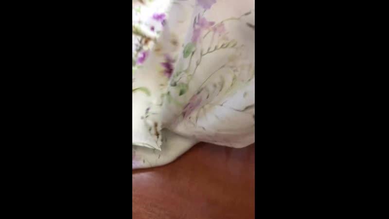 Шелк 100 цветочный принт