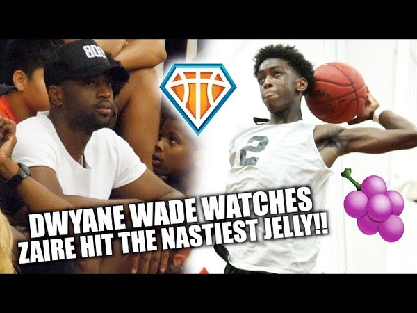 Dwyane Wade Watches Zaire HIT A NASTY JELLY DROP 26 CATCH A DUB VARSITY BASKETBALL DEBUT