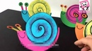 ♡ How To make Paper Snail For Kids ♡ Easy DIY Craft Ideas For Children ♡ PandaKid ♡