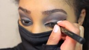 Beauty Tutorial Makeup Ninja Women Wearing Mask Ninja