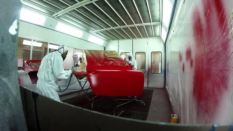 Restauration voiture ancienne peinture porsche 911 turbo targa collection partie 2 sur 2