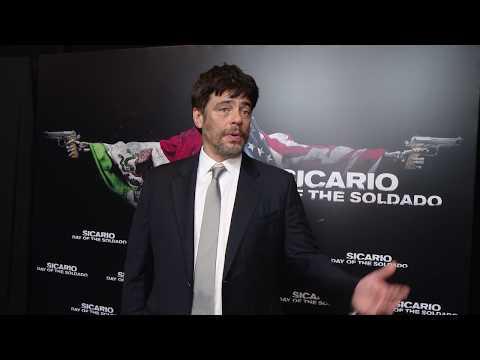 Cinemacon 2018 Sony Sicario Day of the Soldado - Benicio Del Toro