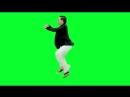 Псай танец футаж на зеленом фоне PSY Gangnam Style Walk Cycle Loop in Green