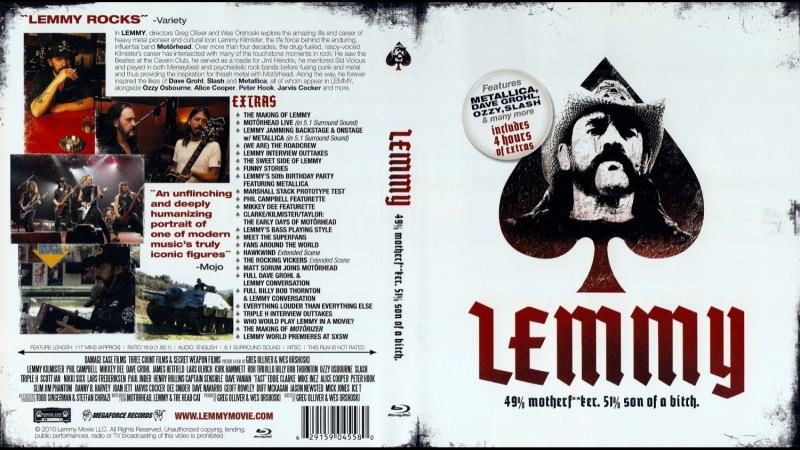Лемми / Lemmy - The Legend of Motorhead (2010)