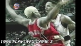 Alonzo Mourning vs Dennis Rodman Crazy Matchup in 1996 Playoffs Game 3!