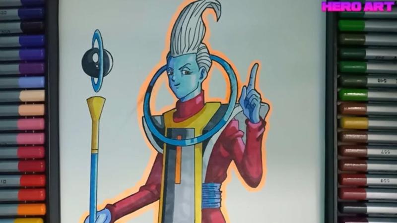 Vẽ thiên sứ Whis người thầy của Goku mạnh hơn cả Beerus