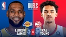 LeBron James and Trae Young Battle In First Career Matchup | November 11, 2018 #NBANews #NBA #Lakers #LeBronJames #Hawks