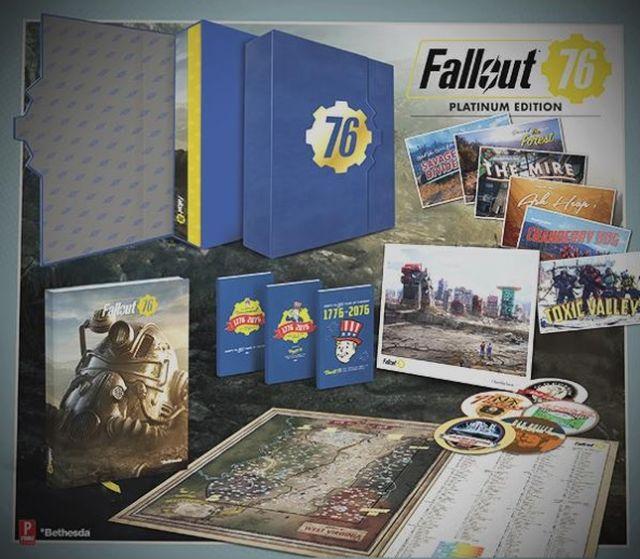 Платиновое издание Fallout76 продаётся без игры