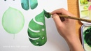 Painting Tropical Leaves