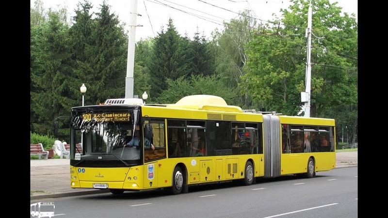 Автобус Минска МАЗ-215,гос.№ АН 8906-7,марш.100 (16.01.2019)