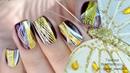 Дизайн ногтей с наклейками под гель лак