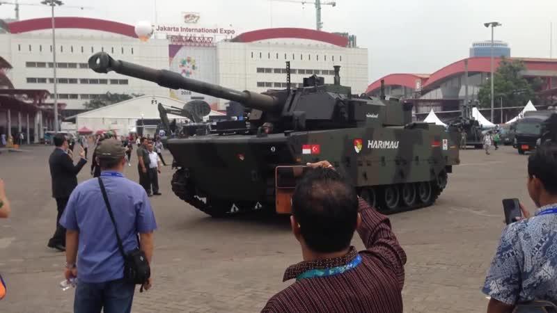Демонстрация опытного образца среднего танка Harimau турецко-индонезийской разработки
