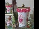 Reciclando e decorando vidro com decoupage-Regina Ensina