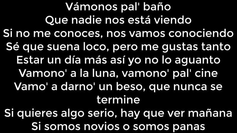 EL BAÑO - LETRA- Enrique Iglesias ft. Bad Bunny