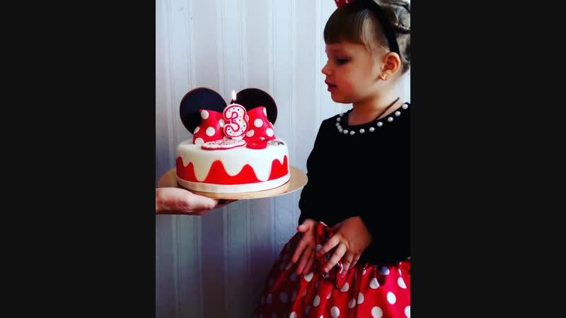 тортик Микки Маус на три года
