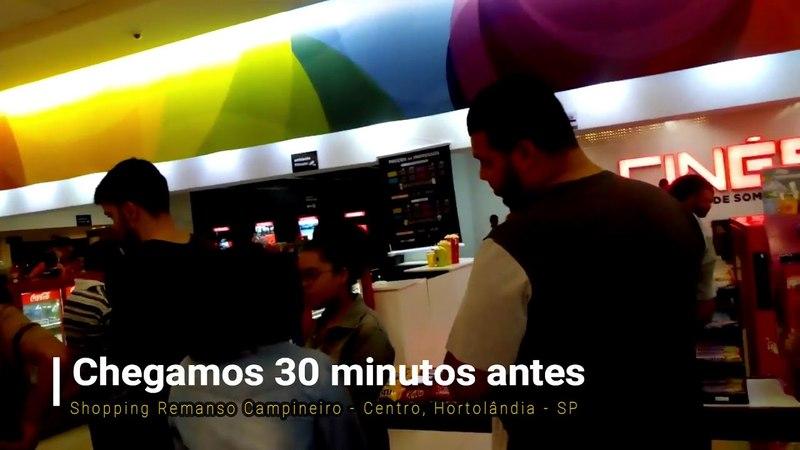 Shopping Hortolândia Filme Vingadores Guerra Infinita Cinema lotado 2 atendentes