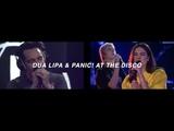 IDGAF - Dua Lipa &amp Panic! At The Disco (split audio) USE HEADPHONES