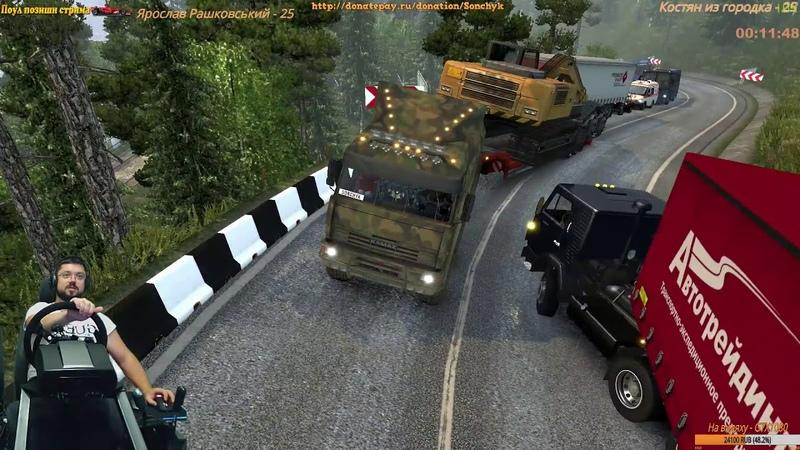 ПРОСТО ЖЕСТЬ Долгожданный конец 3000 км пути Euro Truck Simulator 2 Fanatec CSL Elite