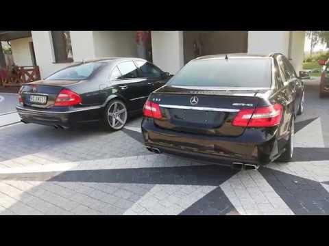 Sound Mercedes E55 W211 VS Sound Mercedes E63 W212 AMG