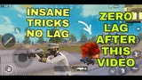 LAG REDUCTION WITH THESE INSANE TRICKS PUBG MOBILE