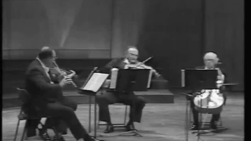 Mozart Quartett D major for flute II. Adagio, III. Allegretto Rampal, Stern, Accardo, Rostropovich
