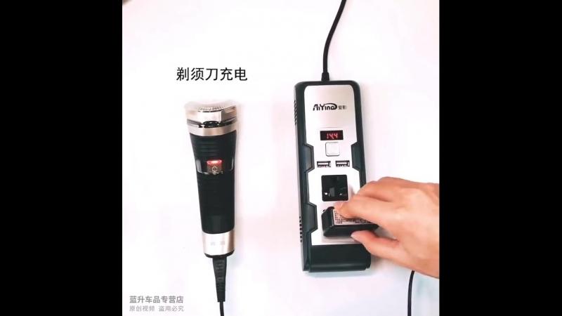 Инвертор автомобильный 12-220v 200 Вт