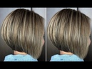 How to: cut a Short Layered Bob Haircut Tutorial - Bob haircut techniques
