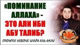 Поминание Аллаха - это Али ибн Абу Талиб! Очередное проявление неверия шиитами, 12-божниками!