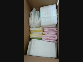 Custom printing magic tape adult diaper in bulk