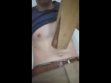 belly punch with stick