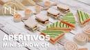 6 APERITIVOS RÁPIDOS Canapés fríos con pan de molde