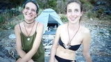INTERVIEW with TWO GERMANS / ITALIAN GIRLS (SISTERS) in 5 TERRE (MONTEROSSO) ~ On NUDISTS BEACH ~