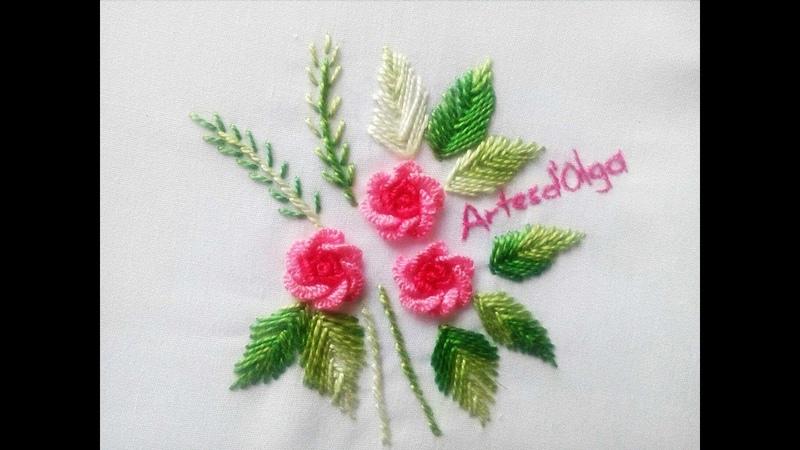 Hand Embroidery: Brazilian Embroidery Roses Tutorial | Rosas en Bordado Brasileño | Bordado a mano
