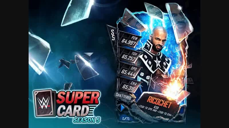 WWE SuperCard For the first reveal of Shattered we felt the debut of @KingRicochet would be appro