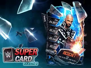 WWE SuperCard - For the first reveal of Shattered, we felt the debut of @KingRicochet would be appro