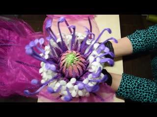 Ростовой цветок из органзы | бесплатный мк