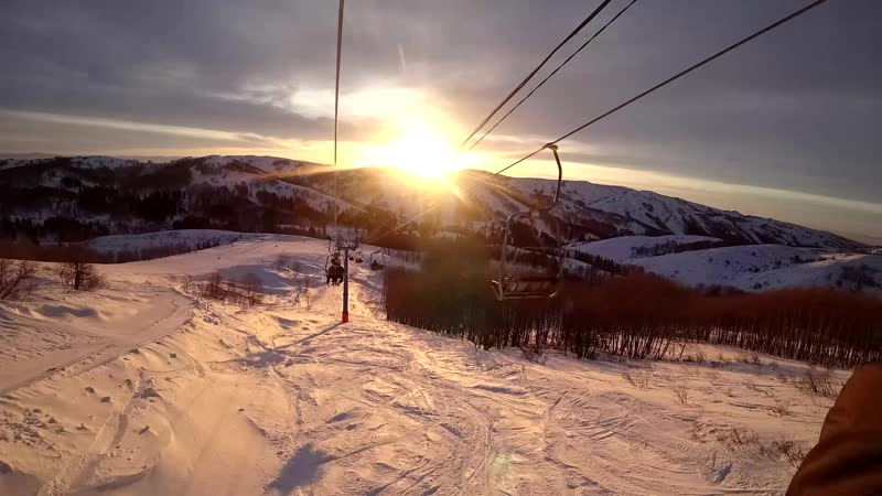 Алтайские Альпы. Подъём в timelapse.