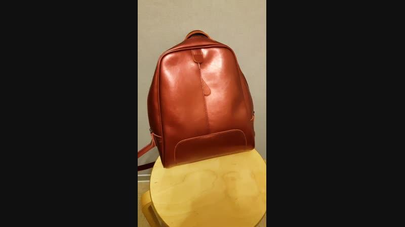 Видеоотзыв о кожаном рюкзаке из закупки Moyo