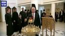 Париж. Франция. В рамках визита во Францию Владимир Путин посетил в Париже Российский духовно-культурный центр