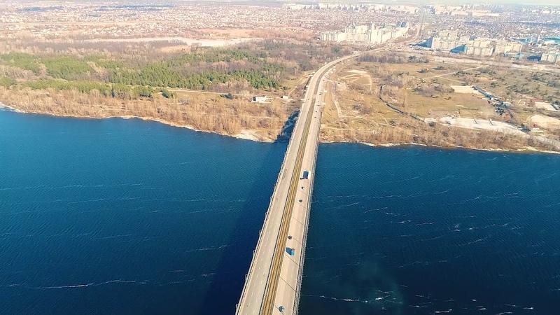 Мосты Днепра с высоты птичьего полета