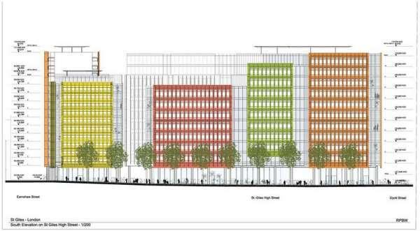 Central Saint Giles — это многофункциональный проект в центре Лондона .